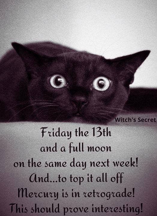 Full Moon in Sagittarius on Friday the 13th!!
