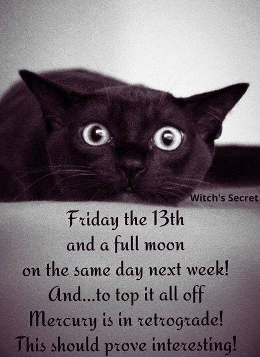 Full Moon in Sagittarius on Friday the 13th!!