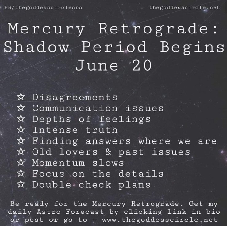 A Slow Down Begins – Mercury Retrograde Shadow | Rubys Readings